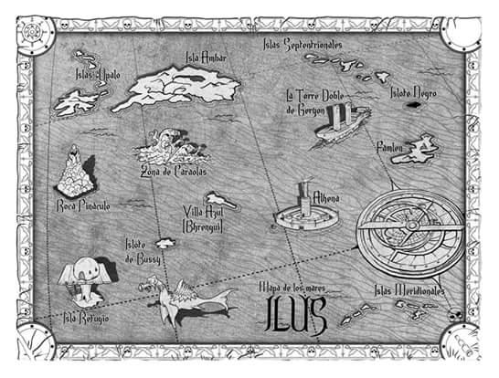 Mapa de los Mares de Ilus