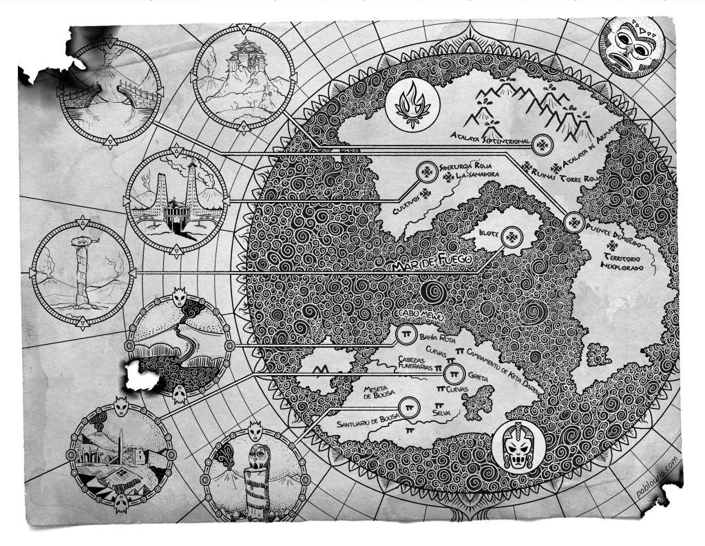Mapa de El Atlas del Fuego